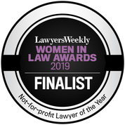 Lawyers Weekly Women in Law Awards - Not for Profit Lawyer Finalist