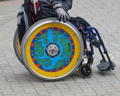 Colourful Wheelchair