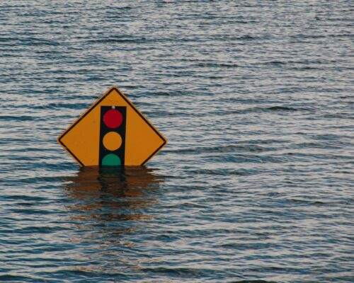 Flood Traffic Light Symbol